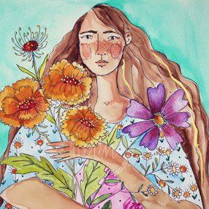 Garden Girl {Card}